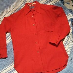 Pendleton Long Sleeve Wool Button-Up Shirt